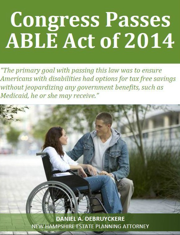 Congress Passes ABLE Act of 2014